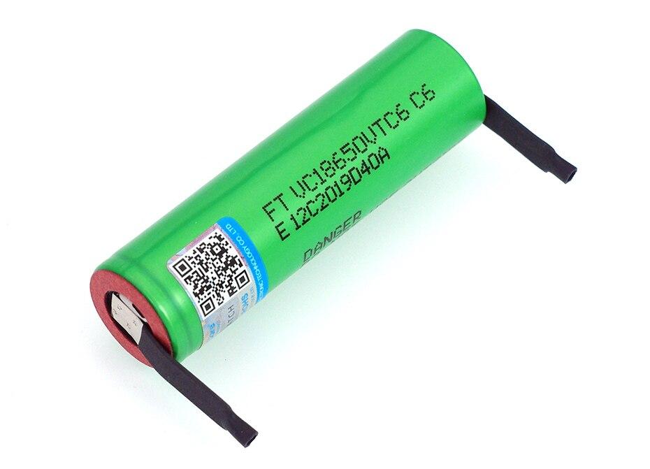 Image 4 - VariCore VTC6 3,7 V 3000 mAh 18650 литий ионная аккумуляторная батарея 30A разрядка VC18650VTC6 батареи + DIY никелевые листы-in Подзаряжаемые батареи from Бытовая электроника