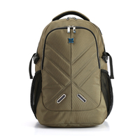 Male Laptop Backpack for Men 15.6 inch Office Work Men Nylon Backpack Business Bag Black Army Green Backpack with Rain Cover