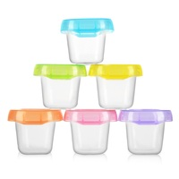 6pcs 60ml Baby Food Containers Snack Box Kids Toddler Milk Powder Formula Dispenser Free Blocks Freezer