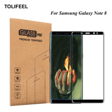 TOLIFEEL 3D Full Cover Tempered Glass For Samsung Galaxy Note 8 Screen Protector Protective Film For