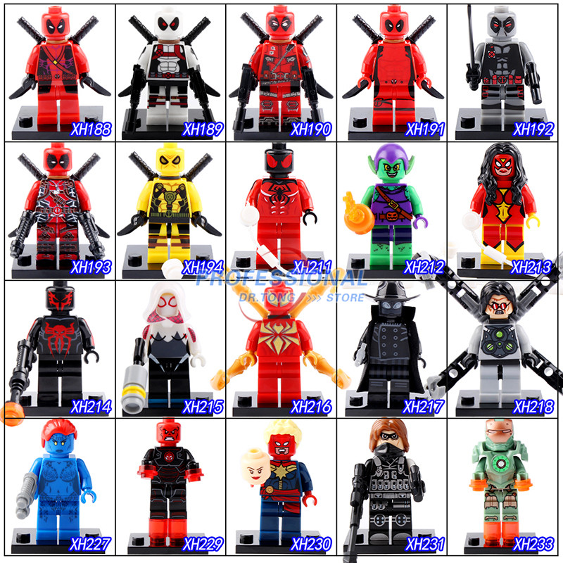 2017 New Classics Figures Series 3 XH Super Heroes Building Block Toys Deadpool Spider-Man Green Goblin Iron Man new lp2k series contactor lp2k06015 lp2k06015md lp2 k06015md 220v dc