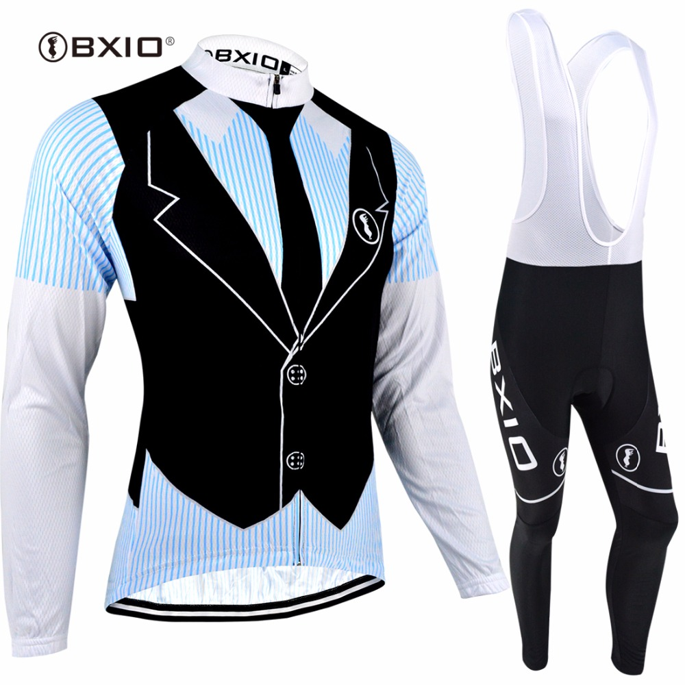 BXIO Brand Autumn Cycling Sets Quick Dry Maillot Cycling Clothing Long Sleeve Bicycle Wear Dress Design Ropa Ciclismo 063 x tiger 2017 cycling jersey sets long sleeve mountain bike clothes wear maillot ropa ciclismo quick dry racing bicycle clothing