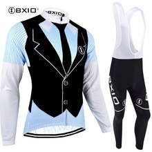 BXIO Brand Autumn Cycling Sets Quick Dry Maillot Cycling Clothing Long Sleeve Bicycle Wear Dress Design Ropa Ciclismo 063