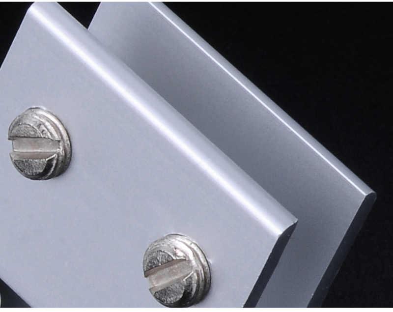 2 sztuk Myhomera szklane zaciski do 5/8/10mm półki uchwyt uchwyt narożny zacisk aluminium grube szkło klipy 6 rozmiary 8x40mm 10x60mm