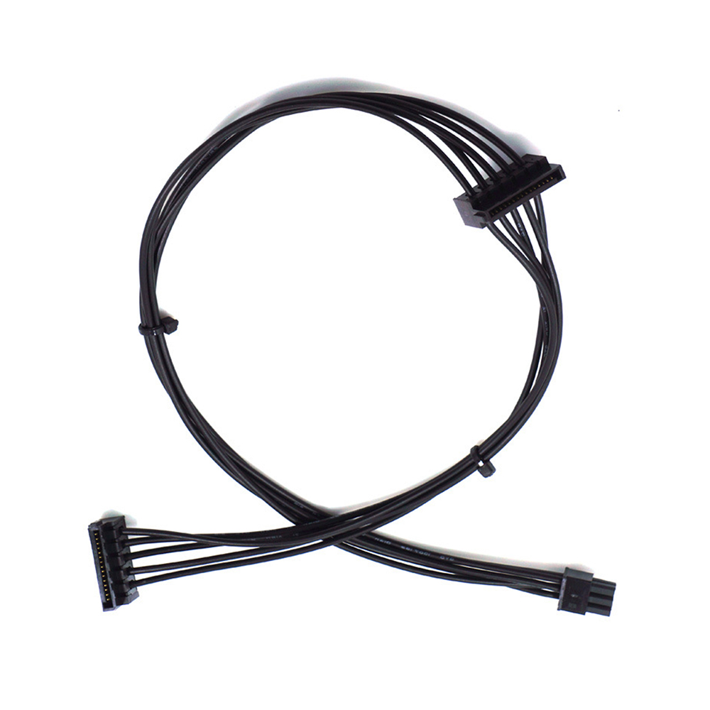 1pcs Mini 6 Pin To 2 SATA 15PIn Power Supply Cable For Dell Vostro 3070 3670