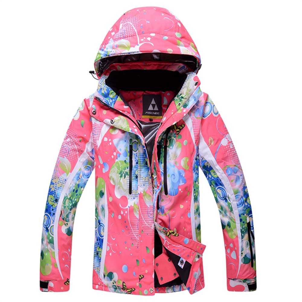 ФОТО Top Quality Snowboard and Skiing Jackets Woman Colorful Printing Snow Coats Winter Outdoor Waterpoof Lady Ski Jackets S-XXL