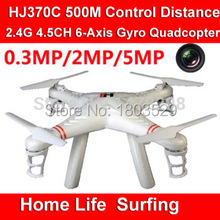 Hot sell HJ370 w608-7 large rc drone 500m Control Range 2.4G 4CH 6-Axis GYRO With 5.0 HD Camera  RC Quadcopter UFO  VS WL V353
