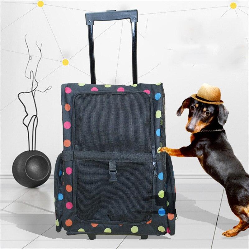 AHUAPET Ventilation animaux de compagnie boîtier de chariot chien chat sac à dos sortir Portable chien sac de voyage Pet voyage sac à dos transporteur accessoires E