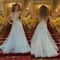 Myriam Fares azul claro largo sirena vestido de noche 2015 Abendkleider Elegant Sexy manga Cap fiesta de la boda vestido de fiesta