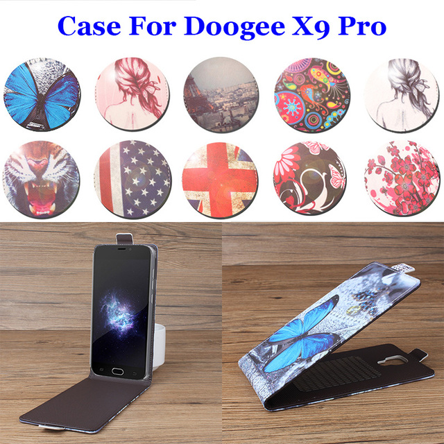 5.5 Inch Up Down Painted Luxury For Doogee X9Pro Case PU Leather Cases Flip Case For DoogeeX9Pro Phone Cover Shell Full Tracking