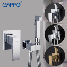 GAPPO Bidets Faucets anal shower cleaning bidet toilet sprayer wall mounted muslim shower bidet sprayer  cleaner shower enema gappo white bidets bathroom toilet muslim shower bidet tap hygienic shower wall mount shattafs faucets