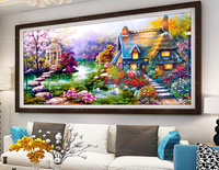 DIY 5D Diamond Mosaic Landscapes Garden Lodge Painting Cross Stitch Kits Diamonds Embroidery Home Decoration Ferr