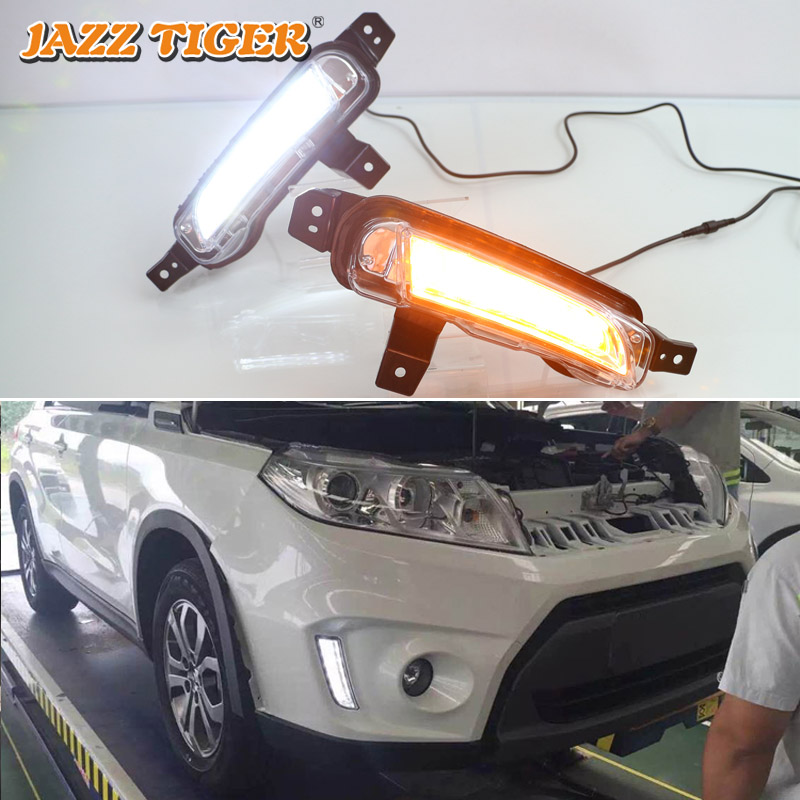 JAZZ TIGER Yellow Turn Signal Function Waterproof ABS 12V