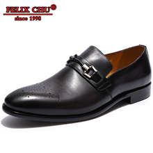 цены Luxury Brand Men Leather Shoes Pointed Toe Shoes Men's Party Wedding Shoes Slip On Footwear Hand-made Loafer Fashion Men 2019
