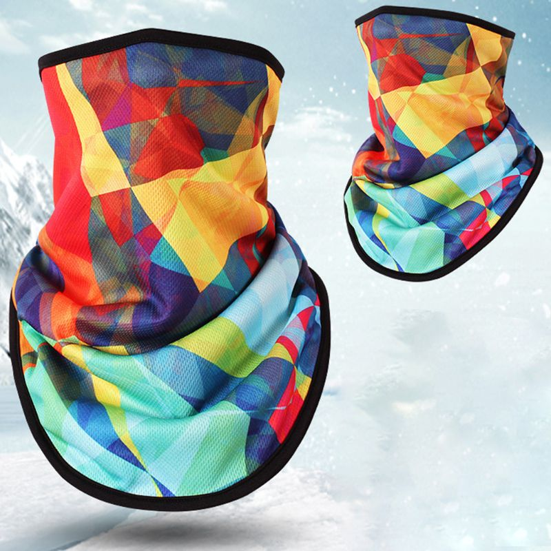 Men's Accessories Men's Masks Outdoor Triangle Scarf Colorful Face Mask Graffiti Camouflage Skeleton Printing Motorcycle Cycling Bandana Neck Warmer
