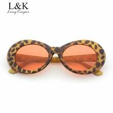 Long Keeper más nuevo fahion mujeres hombres Gafas de sol leopardo Nirvana  Kurt Cobain Sol Gafas oval masculino Gafas vintage UV. de57b3ace2