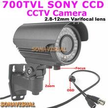 700TVL 960 H Zoom / Focus à focale variable CCTV caméra Sony Effio CCD avec OSD Menu bouton IR Night Vision de Surveillance de la maison étanche