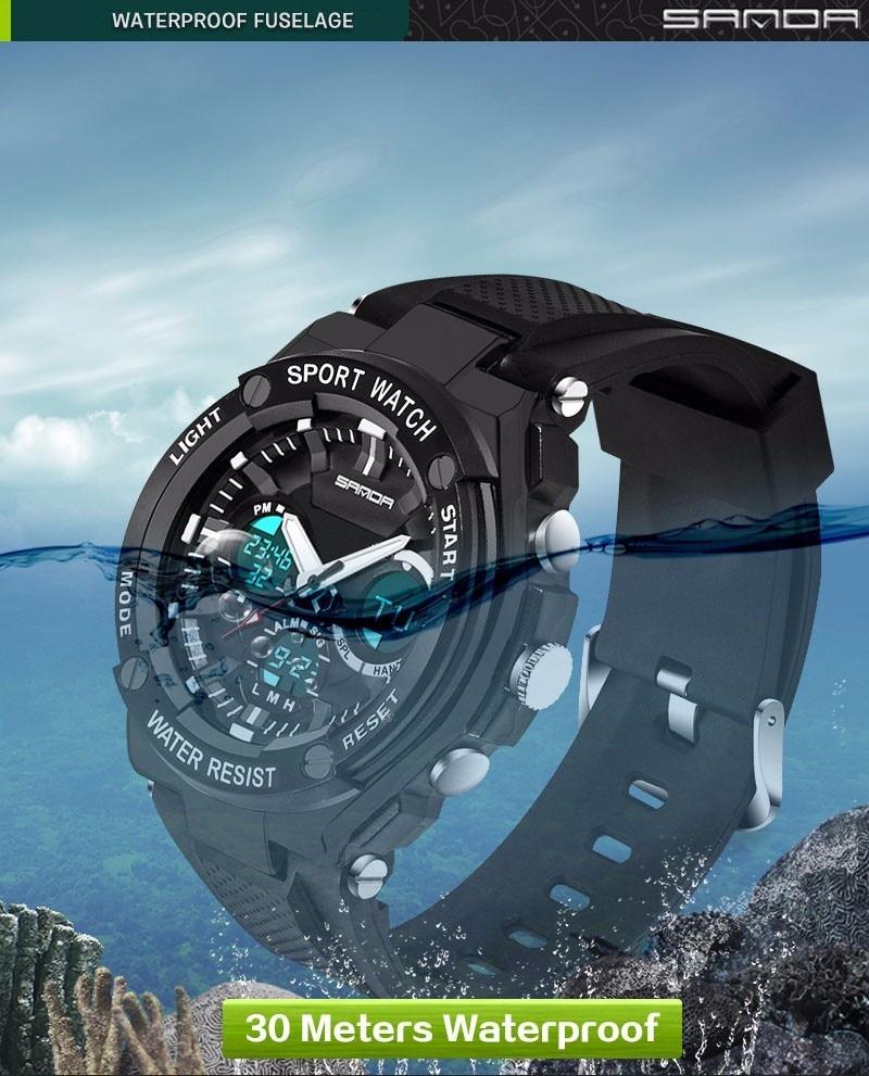 Men Sport Watch Waterproof Top Brand Luxury Military Watch LED Digital Quartz Wristwatch Relogio Masculino Reloj Hombre 2019 733 15