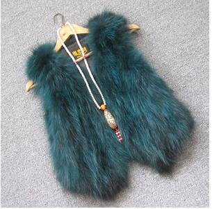 Жилет из натурального меха енота, женский жилет из лисьего меха, короткий дизайн, повседневное пальто из натурального меха, меховая верхняя одежда градиентного цвета - Цвет: 5
