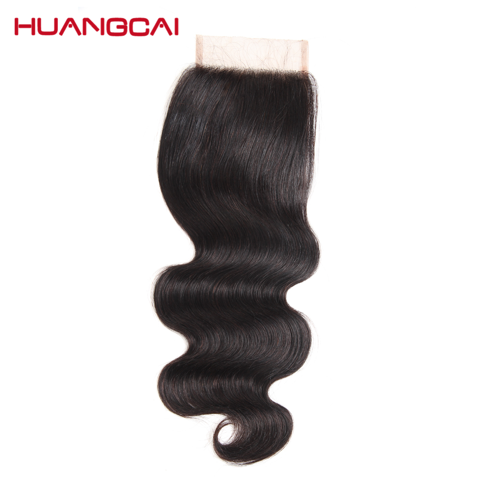 Body Wave 4x4 Lace Closure Brazilian Hair 100% Human Hair Closure Free Part Swiss Remy Lace Closure Natural Color Can Be Dyed