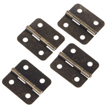 12Pcs Antique Kitchen Cabinet Door Hinges Jewelry Wood Box Drawer Butt Hinge Decorative for Furniture 36x26mm