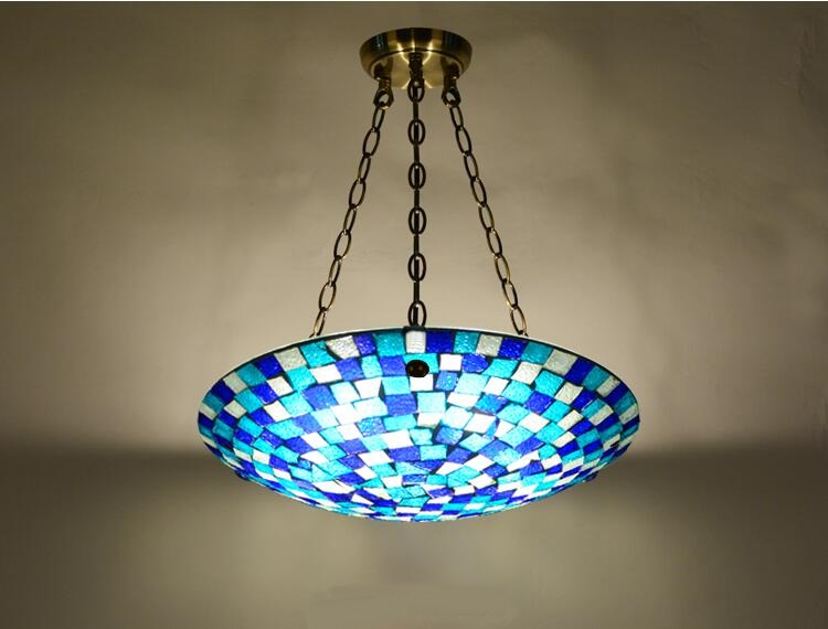 Tiffany 40CM Pendant Lights bedroom lamp romantic hall entrance corridor balcony kitchen hatrack round pendant lamps DF123 tiffany glass pendant lamps fashion style 3 lights living room lamps corridor light bedroom lamp dia 56 cm h 65 cm
