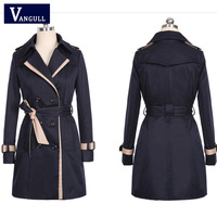 new spring autumn overcoats 2018 women's trench coats long sleeve fashion turn down collar over wear clothing