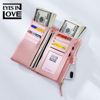 New women's wallet fashion casual multi function long large capacity ladies clutch bag purse business card holder