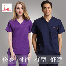 Men's and women's hand washing clothes, short sleeved clothes, pure cotton isolation clothes, brushing clothes, operating clothe