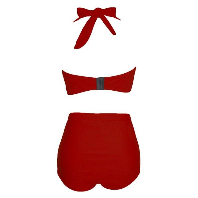 SEBOWEL Sexy Plus Size Swimwear Womens High Waist Bikini Set 2019 Summer Swimsuit Sexy Large Female Bikinis Bathing Suits 5XL 3
