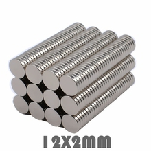 купить 50/100/200Pcs 12x2 mm Neodymium Magnet Strong Round Magnet N35 12*2 mm Search Magnet Rare Earth Magnets For Crafts Gallium Metal дешево