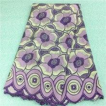 Hohe Qualität lila Afrikanische Schweizer Voilespitze für nähen kleid. Schweiz 100% baumwolle spitze stoff Für abendkleid GP1328-B
