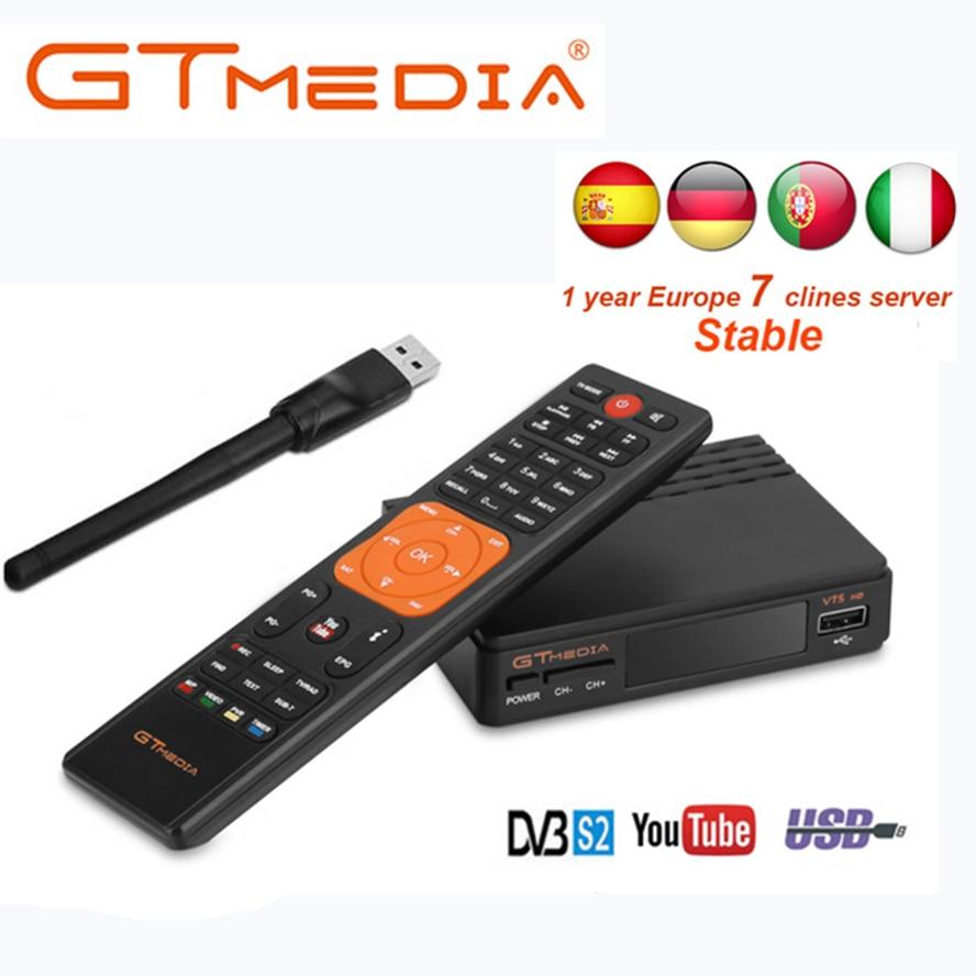 FTA DVB S2 衛星テレビ受信機 Gtmedia V7S hd 1080 USB 無線 Lan のサポート Youtube 1 年 Cccam クライン送料 freesat から 12v  グループ上の 家電製品 からの 衛星 TV 受信機 の中 1