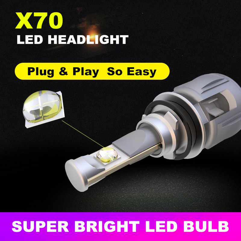 INLONG X70 H1 LED Headlight Bulbs H4 H7 9005 9006 Led H11 H8 D1S D2S D4S HP Led Lamp Chip 7800LM  Auto Headlamp Fog Lights 6000K