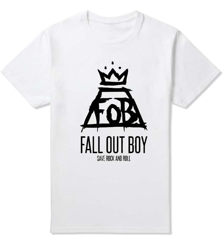 New 2015 Fashion Men's T Shirts FOB Fall Out Boy Cool Printing Tshirts Funny Male Clothing Tees Cotton T-shirts Custom Tops