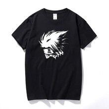 Camiseta de manga curta de algodão dos homens da parte superior do presente do anime do ninja shinobi naruto