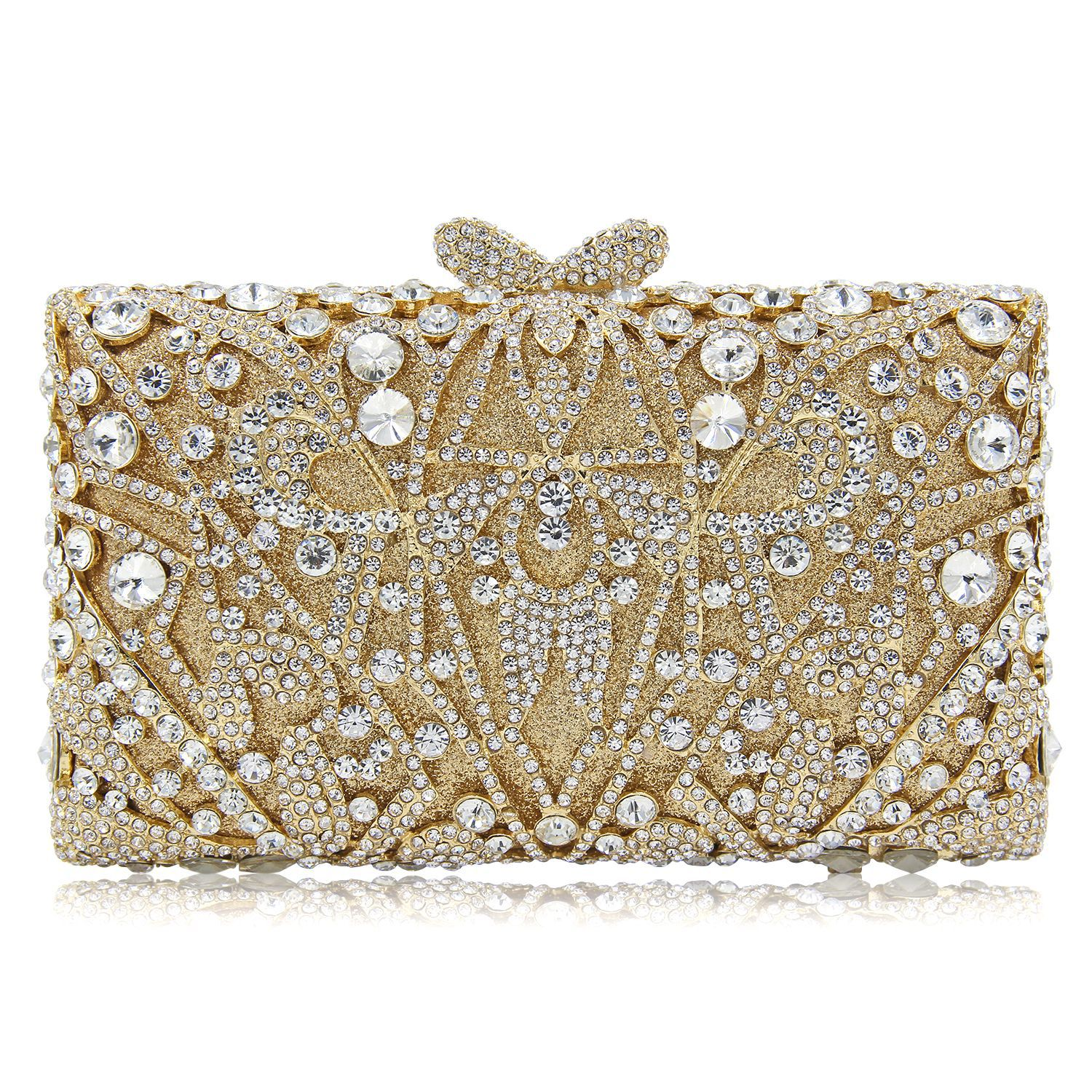 New Luxury Women Evening Bags Full Diamond Crystal Party Clutch Bag Chain Wedding Gold Clutches Purses colourful bird women evening luxury bags crystal clutches laides evening bag female party hard case bags wedding clutch purses