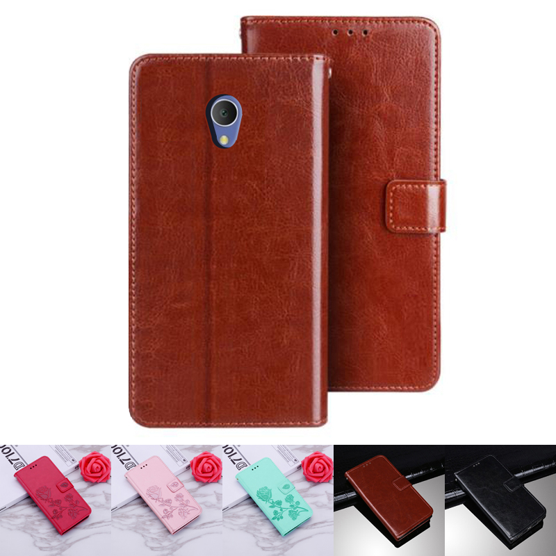 Alcatel 1C 2019 5003D Case Protection Stand Style PU Leather Flip Silicone Back Cover For Alcatel 1 C 5003 D Phone Wallet Capa