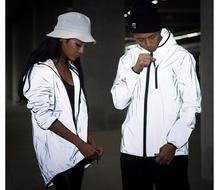 3 mt Reflektierende Jacke Männer Frauen Harajuku Windjacke Jacken Mit Kapuze Streetwear Mäntel 3 mt Windjacken Harajuku Jacke
