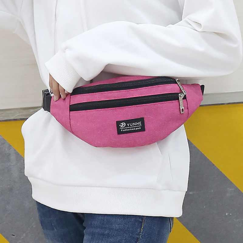 LITTHING mujer hombres cintura bolsa paquete Casual funcional dinero teléfono bolsa de T201 gris negro las mujeres para cinturón bolsa de cadera bolsa de Fanny