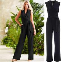 women jumpsuits wish speed sell through selling hot style loose sleeveless lace up