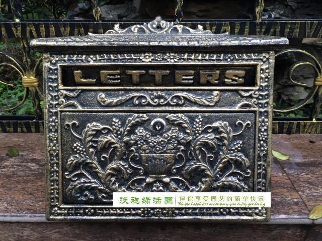 Hotsale European cast iron mailbox Wall Mount Metal Post Letters Box Fashion Vintage Newspaper box Post Letter Box
