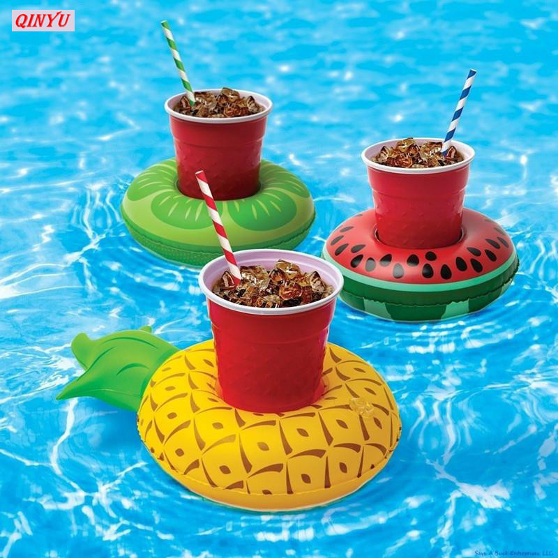 1pcs Fruit Inflatable Water Floating Drink Coke Cup Holder Stand Station Swimming Bath Pool Drink Coasters Globos Balloons 5z Festive & Party Supplies Home & Garden