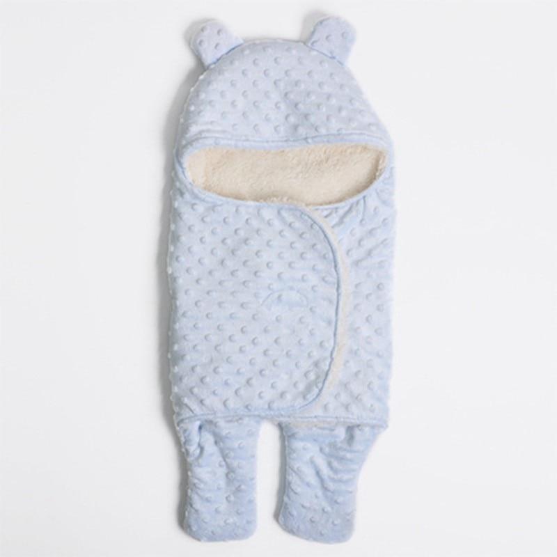 MOTOHOOD Coral Fleece Infant Swaddle Stroller Wrap For Newborn Baby Bedding Blankets Winter Thicken Velvet Baby Blanket Swaddle (14)