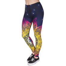 Fashion Women Legins Mandala Lights 3D Printing Sexy Legging High Waist Soft Woman Leggings