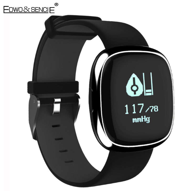 EDWO P2 Smartband Blood Pressure Heart Rate Monitor Smart Wristband Sport Health Bracelet Pedometer Call SMS