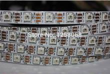 50 m/lote dc5v ws2811 ic endereçável ws2812b 60 pixels luz de tira, magia sonho cor 5050 rgb led não-impermeável