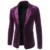 2017 Recién Llegado de Fashion Business Casual Slim Fit Solo Botón Traje de Invierno Chaqueta de Abrigo Hombres Chaqueta de Terciopelo Negro Rojo Púrpura