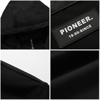Pioneer Camp New autumn long jacket men brand-clothing fashion black jacket coat male top quality casual men coat AJK703031 4