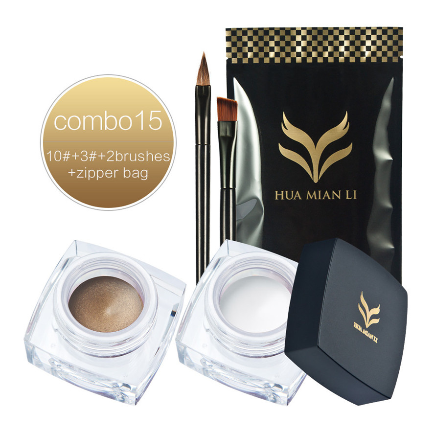 New Huamianli 2pcs Fashion Gold+White Make Up Eyeliner Gel Party Daily Makeup Eyeliner Cream+1PC Eye Makeup Brush Pretty-in Eyeliner from Beauty & Health on Aliexpress.com | Alibaba Group